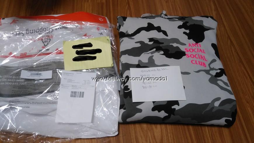 717337738d5 [XXL] 안티소셜소셜클럽 스노우카모 후드티 | Other Brand